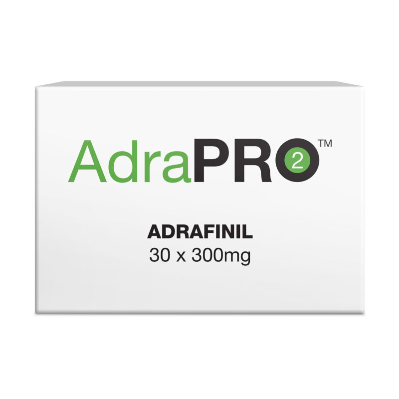AdraPRO2 product packaging for Adrafinil tablets