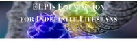 ELPIs Foundation for Indefinite Lifespans logo in white with colourful background