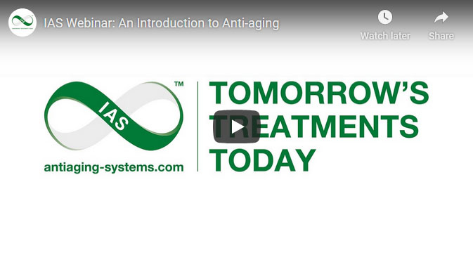 IAS YouTube webinar screenshot with green text and white background