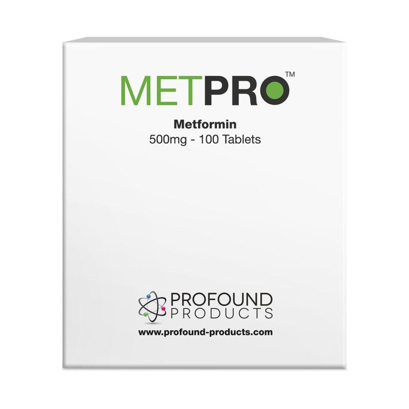 METPRO Metformin tablets product packaging
