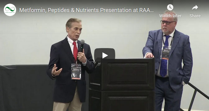 Screenshot of an IAS YouTube video about Metformin, Peptides & Nutrients Presentation