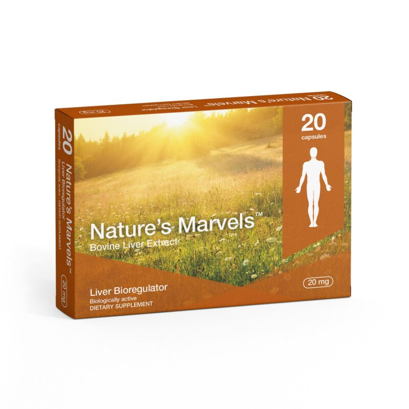 Liver Bioregulator dietary supplement packaging front