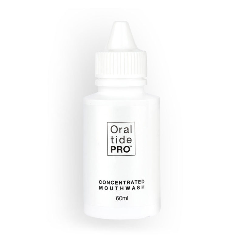 Oral Tide PRO 60ml white bottle of Concentrated Mouthwash