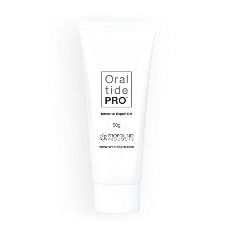 Oral Tide PRO bottle of intensive repair gel toothpaste
