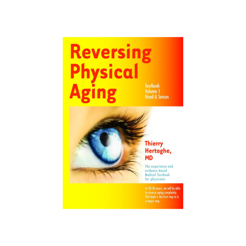Textbook cover for Reversing Physical Aging with a close up of a blue eye