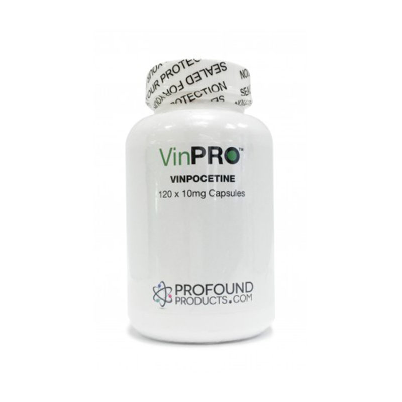 VinPRO product packaging containing 120 Vinpocetine Capsules