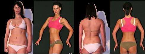 Before-and-after photos of hormone body sculpting