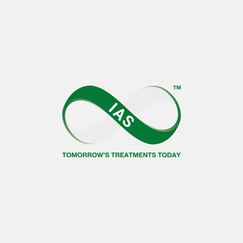 Green and white IAS logo