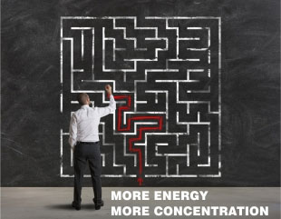 More energy, more concentration