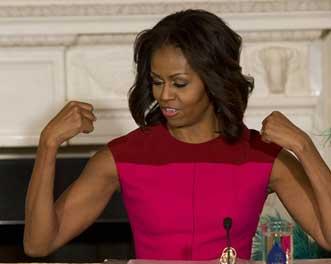 Figure 2- Michelle Obama's triceps