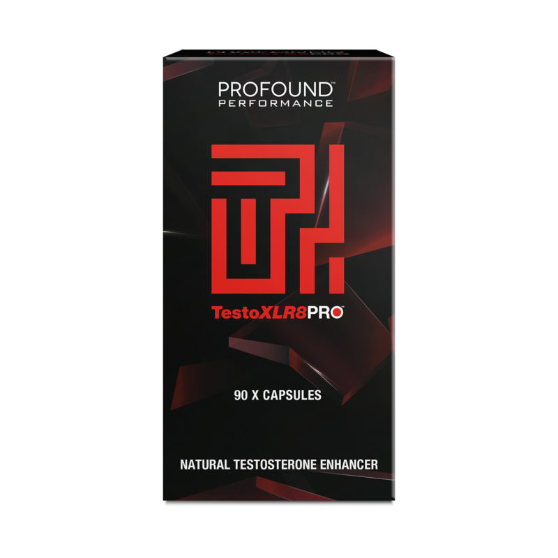 TestoXLR8PRO Testosterone enhancer product packaging